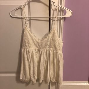 Babydoll Crop Top with Lace
